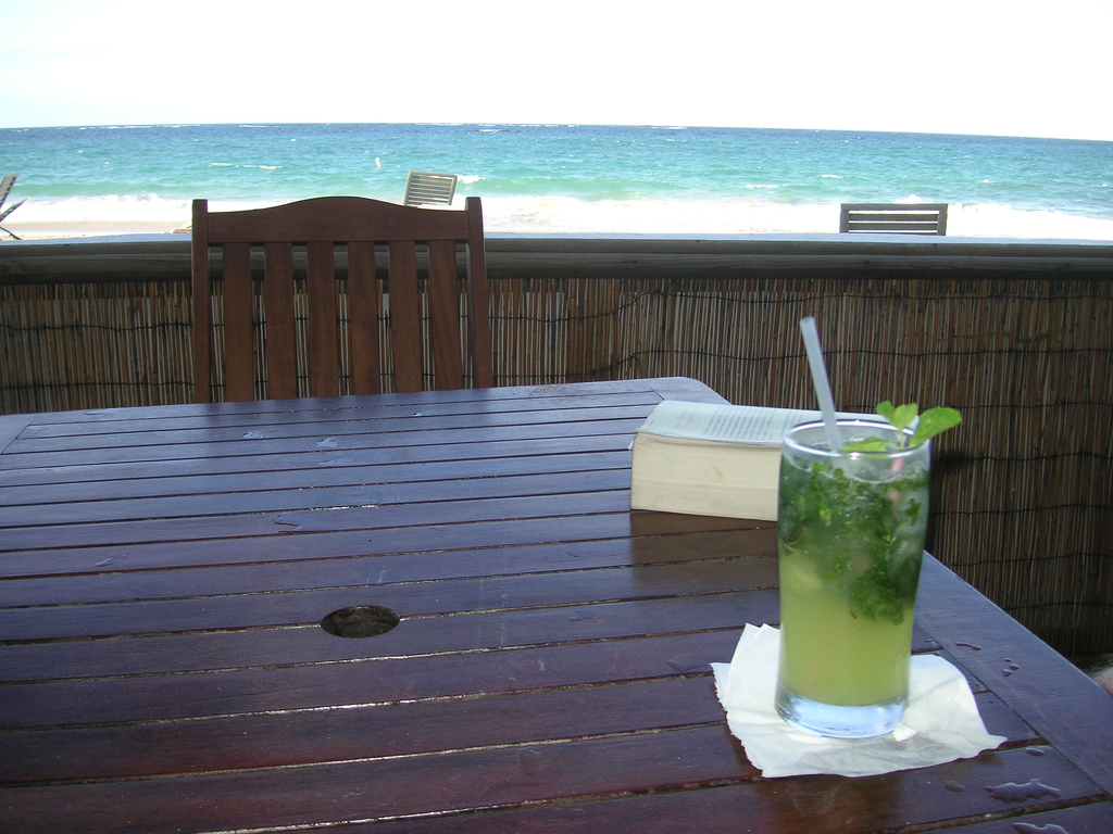 Mojito en la playa